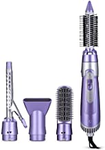 SHINON SH - 9822-6 360 Degree Hair Styling Tool Set 5-In-1 Electric Dryer Curler Brush Comb Hair Styling Tool Hair Mauve