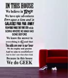 Geek House Quote - Harry Potter Star Wars Movies...