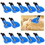 12 Piezas Bebedero Automático Taza de Plástico Para Aves de Corral Cuenco de Agua Para Aves de Corral Taza de Agua Para Pollo Para Aves de Corral Gallinas Gallinero