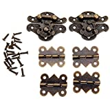 Pestillo del cerrojo 6pcs / set joyería bisagras del hierro antiguo Toggle bronce Cerraduras Metal Madera decorativo del hardware de los muebles Box