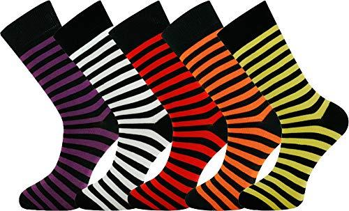Mysocks® 5 pares de calcetines de hombre Extra fino de algodón peinado sin costura tamaño 40-45