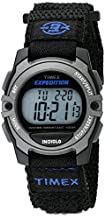 Timex Unisex TW4B02400 Expedition Mid-Size Digital CAT Black Fast Wrap Strap Watch