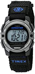 Adjustable black 16 millimeter nylon fast wrap strap with hook & look closure fits up to 8-inch wrist circumference 100-hour chronograph with lap & split times; 24-hour countdown timer; month, day & date calendar 3 daily, weekday or weekend alarms wi...