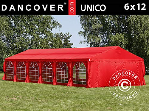 Dancover Partytent UNICO 6x12m, Rood