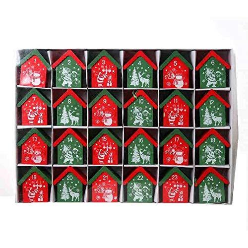 Adventskalenders Kerstboom Ornament Snoep Doos Verschijnt Kalender 24 Dagen Leuke Vakantie Decoratie