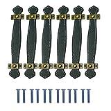 Qixuer 6 Piezas Tirador de Muebles de Cuero,Tirador de Mueble Vintage Tirador de Puerta Cocina Armario Muebles Tiradores Armario Cajón Tiradores de Herrajes para Muebles para Cajón de Armario