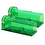 Authenzo Humane Mouse Trap Smart No Kill Mouse Trap Catch and Release, Safe for People and Pet-2 Pack