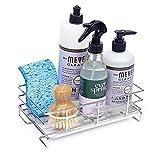 HandyHomeConcepts Sponge Holder For Sink (2021) Large Sink Caddy Kitchen Soap Tray Dish Soap Caddy Kitchen Bathroom Sink Organizer Brush Holder - 9x5x3
