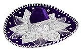 Authentic Adult Mexican Sombrero Mariachi Charro Hat, Premium Mexican Hat for Costume Parties, 5 de...