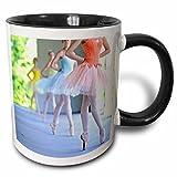 3dRose Ballerinas mit buntem Tutus Create a Rainbow of Dance, zweifarbig, 325 ml, Schwarz