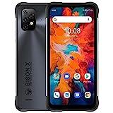 UMIDIGI Bison X10 Rugged Unlocked Smartphones,4G+64GB Android 11 IP68/IP69K Waterproof Shockproof Phone Helio P60 20MP Camera 6.53' FHD+ 6150mAh Fast Charge Global Version NFC Rugged Smartphone