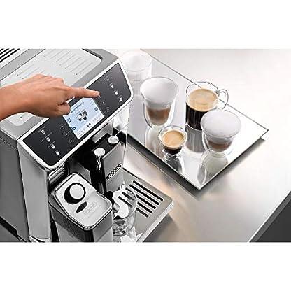 DeLonghi-PrimaDonna-Elite-Kaffeevollautomat-mit-Milchsystem-Cappuccino-und-Espresso-auf-Knopfdruck-Farbdisplay-und-App-Steuerung-Edelstahlfront-silber