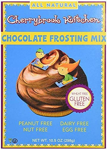 Chocolate Frosting Mix from Cherrybrook Kitchen - 9.4 oz Pack of 2 - Decorate Cakes Cookies and More with Rich Chocolate Flavor Nut Free Gluten Free Egg Free Dairy Free Frosting