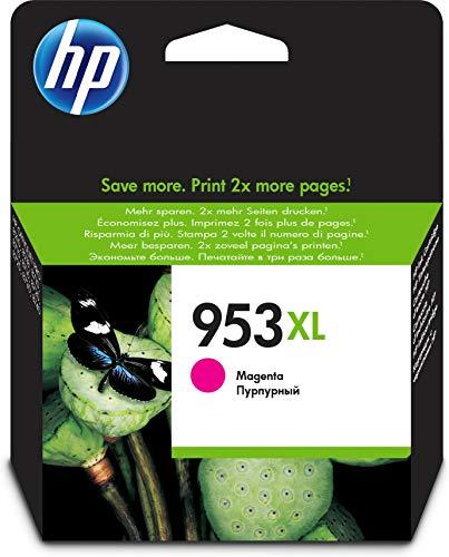HP 953XL F6U17AE Cartuccia Originale per Stampanti a Getto di Inchiostro, Compatibile con OfficeJet Pro 8710, 8715, 8718, 8720, 8725, 8730, 8740, 7740 Grandi Formati, Magenta