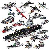 ZMH Boy Toy Montiert Flugzeugträger Acht In Einem Militärischen Baustein -