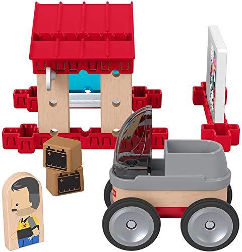 Fisher-Price GLM42 - Wunder Werker Holzspielzeug Parkgarage für Kinder aus FSC zertifiziertem Holz, Spielzeug ab 3 Jahren