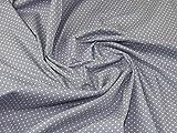 Minerva Crafts Baumwoll-Popeline-Stoff, gepunktet, Weiß