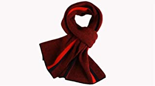 Yghfd Winter Striped Wool + Cashmere Soft Scarf (Color : SI 3)