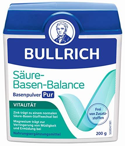 Bullrich Säure-Basen-Balance Basenpulver Pur | Mit Zink für einen ausgeglichenen Säure-Basen-Haushalt | inklusive Messlöffel, 200 g