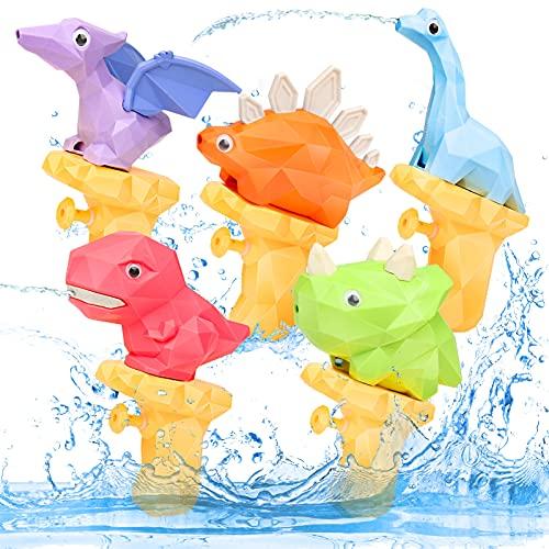 Dinosaurios Pistolas de Agua Juguetes de baño Juguetes Playa Juguete al Aire Libre Regalos para niños 3 4 5 años Verano Piscina