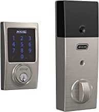 Schlage Lock Company BE469ZP CEN 619 Schlage Connect Smart Deadbolt with alarm with Century Trim in Satin Nickel, Z-Wave Plus enabled,