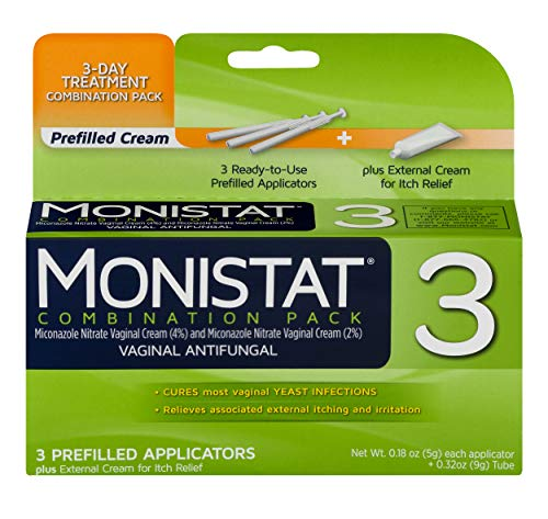 Monistat 3-Day Yeast Infection Treatment | Prefilled Applicators + Itch Cream