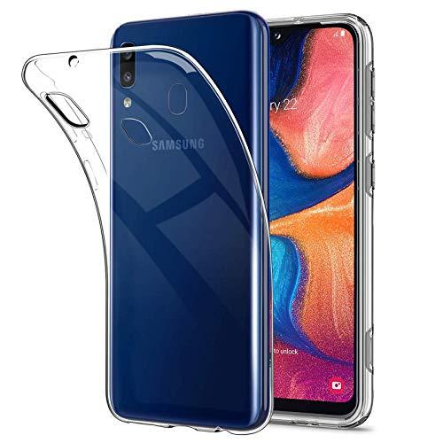 NEW'C Cover per Samsung Galaxy A20e, Custodia Gel Trasparente Morbida Silicone Sottile TPU [Ultra Leggera e Chiaro]