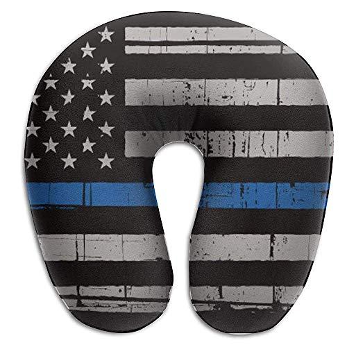 NAN TIAO Cómoda Almohada de Viaje Police American Thin Blue