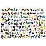 LSXSZZ8 New Cute 144 pcs Pokemon Monster Mini Figure 2-3cm in Random