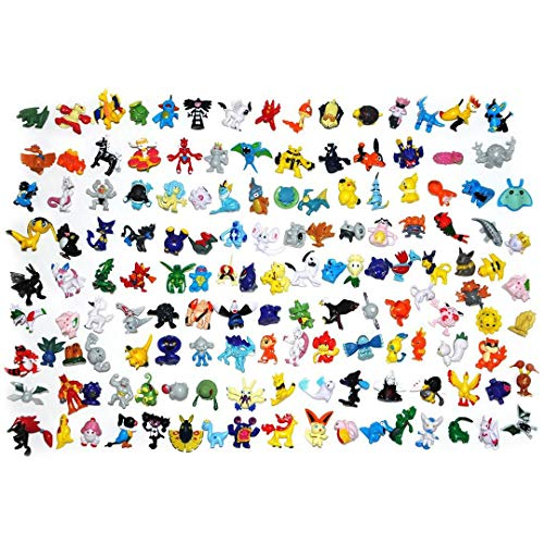 LSXSZZ8 New Cute 144 pcs Pokemon Monster Mini Figure 2-3cm in Random