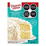 One 15.25 oz box of Duncan Hines Signature Perfectly Moist Coconut Supreme Cake Mix Coconut cake mix made with real coconut and other natural flavors for delicious tropical flavor Bake a coconut layer cake for birthdays, anniversaries or everyday des...