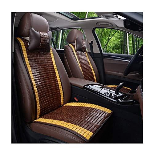 GJHK Cojín para asiento de coche, de bambú, de verano, con almohadilla fresca, de alta temperatura, transpirable, resistente al desgaste, juego de 5 piezas, 3 estilos (color: C)