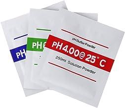 Yyooo 3 unidades por lote de polvo de pH para pruebas medidor de medición de calibración PH 4.00 6.68 9.18