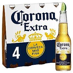 Corona Lager Beer Bottle, 4 x 330 ml
