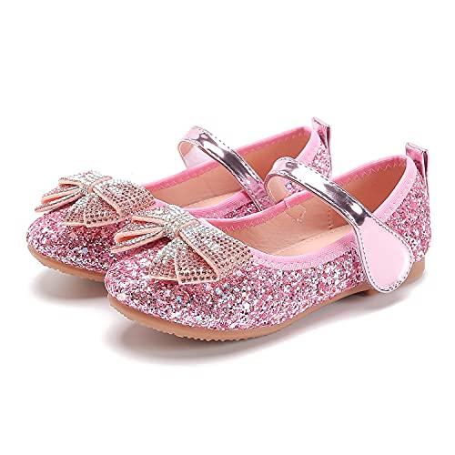Eleasica Zapatos de Vestir, Lazos de Lentejuelas y Joyas Brillantes, adecuados para...