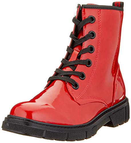 MARCO TOZZI Damen 2-2-25282-35 Stiefelette, Red Patent Comb, 38 EU