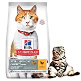 Hills Science Plan Young Adult Sterilised Cat Dry Food Chicken Flavour 3kg Low Fat And Mineral Control For Healthy Urinary And Active Feline