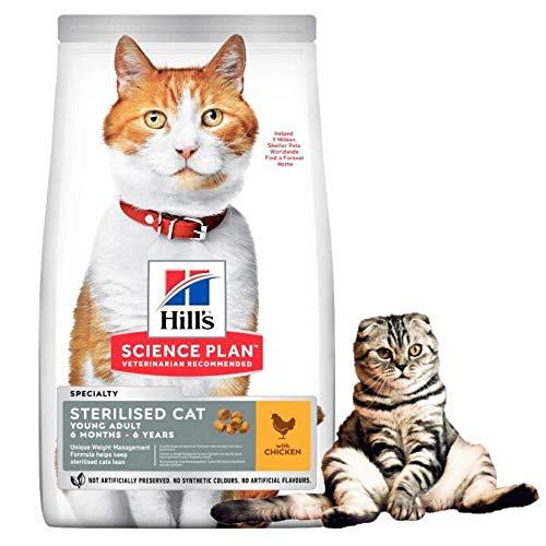 Hills Science Plan Young Adult Sterilised Cat Dry Food Chicken Flavour 3kg...