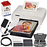 Canon SELPHY CP1300 Compact Photo Printer (White) with WiFi w/Canon Color Ink...