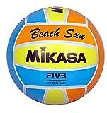 MIKASA Ball Beach Sun 1632 - Palla da Beach Volley, Misura 5, Colore Giallo/Blu/Arancione