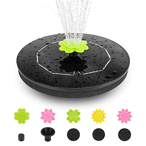 Solar Powered Fountain Pump for Bird Bath,Qualife 2021 NEW 3W Solar Water Fountains Outdoor, Smart Free Standing Floating Solar Fountain Pump for Birdbath Garden Yard Pond Pool Fish Tank