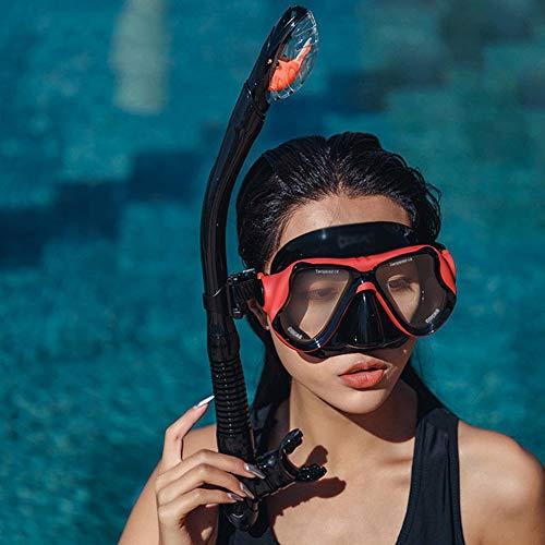 LANFENG Máscara De Buceo, Snorkel Máscara De Cara Completa HD 180 Máscara Visual Snorkel, Anti-Vaho Y Diseño A Prueba De Fugas.
