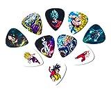 Dragon Ball Z Guitar Picks(10 Medium Picks in a Packet) for DBZ Lovers [0.71mm]