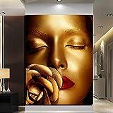 wopiaol Kein Rahmen Gold Gesicht Frauen Poster Bilder