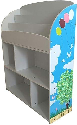 autorización oficial Wghz Organizador Organizador Organizador de Liergou-House Librería de Bricolaje Exhibidor de Almacenamiento Estante de Sala Divisor Paso Rack Colorido Impresión Segura (Color  blanco, Tamaño  83x30x102cm)  Ahorre hasta un 70% de descuento.