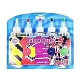 Jinghuash Tinte Ropa,TinteRopa Tie Dye,Tintes para Ropa,Tinte iberia,Tye Die Kit,5 colores para tejido, no tóxico, permanente