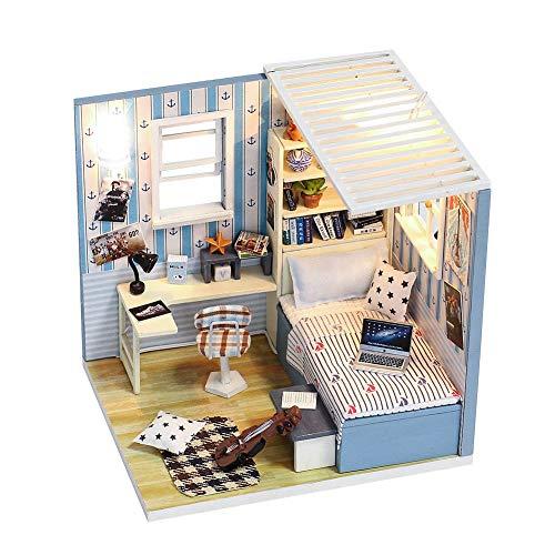 ITODA - Häuser für Modepuppen in Blau Casa Batllo, Größe 12 x 10 x 11.8 cm(LxBxH)