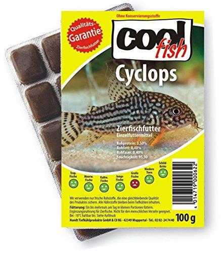 Cool Fish Cyclops, 30 x 100g-Blister, Fisch-Frostfutter, Aquarium, Aquaristik, Fischfutter