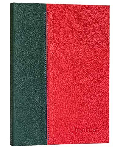 Quotus Quotus - Taccuino di manifattura italiana, con copertina in pelle colorata, interno rigato, 192 pagine in formato 17 x 24 cm, QFL10