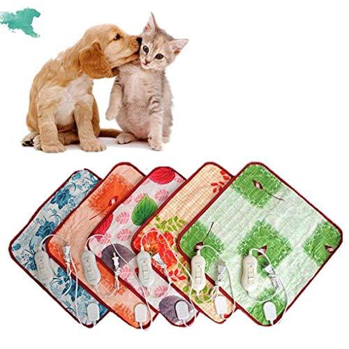 Beirich Mini Almohadilla térmica para Mascotas para Gatos Perros Manta eléctrica Interior...